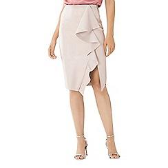 Coast - Blush pink 'Alexis' PU frill pencil skirt