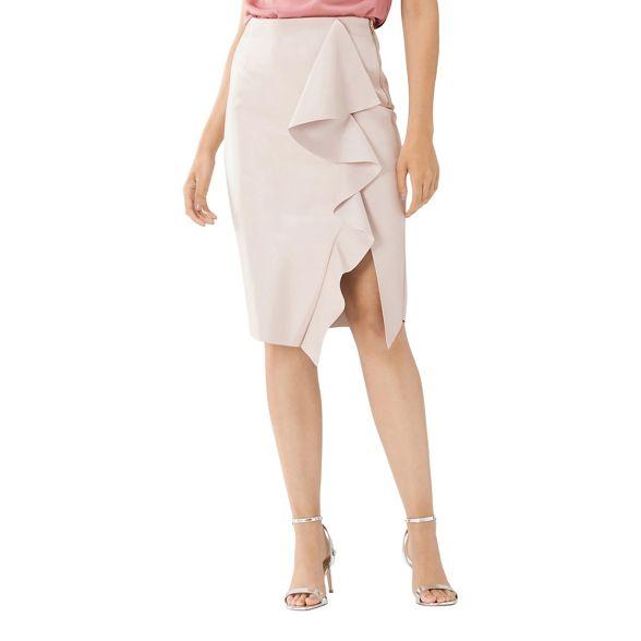 frill Blush PU pink Coast skirt pencil 'Alexis' 4I7ddWnUO