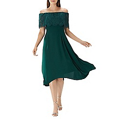 Coast - Forest green 'Oriel' lace bardot dress