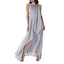 Coast - Silver 'Felda' tie neck maxi dress