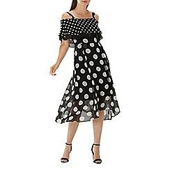 Coast - Monochrome spot 'Cheryl' midi dress
