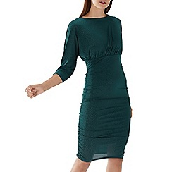 Coast - Forest green 'Marilyn' hotfix jersey dress