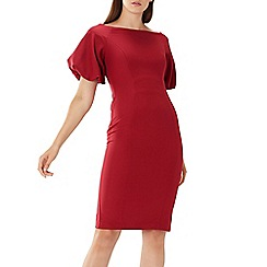 Coast - Mulberry red 'Shailene ' puff sleeve dress