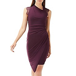 Coast - Plum 'Evan' lace jersey dress