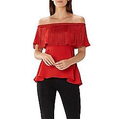 Coast - Brick red 'Austin' fringe bandeau top