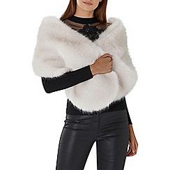 Coast - Ivory white 'Luella' faux fur scarf