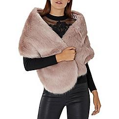 Coast - Dusky pink 'Luella' faux fur scarf