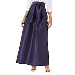 Coast - Purple 'Tilly' tie detail maxi skirt
