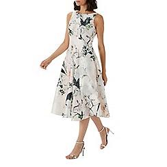 Coast - Floral printed 'Sandra' jacquard midi dress