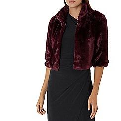 Coast - Purple merlot 'Larini' faux fur jacket