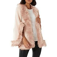 Coast - Blush pink 'Amber' faux fur cape