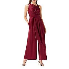 Coast - Purple merlot 'Josie' asymmetric jumpsuit