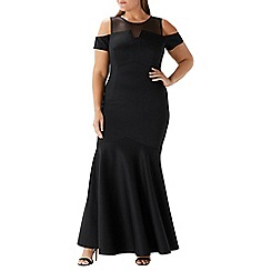 Coast - Black 'Lorna' fishtail maxi dress - Curve