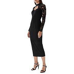 Coast - Black 'Koyla' lace sleeve midi dress