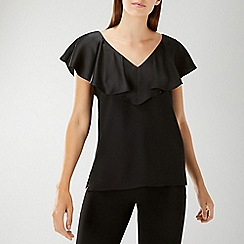 Coast - Black 'Beau' Ruffle Top