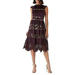 Coast - Purple 'Leah' lace midi dress