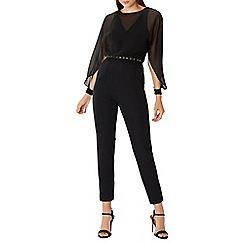 Coast - Black 'Justine' belted jumpsuit