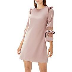 Coast - Dusky pink 'Sara' spot mesh dress