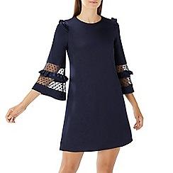 Coast - Navy 'Sara' spot mesh dress