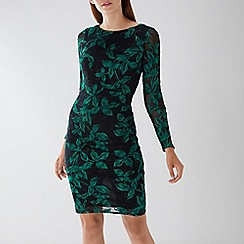 Coast - Black floral 'Louise' embroidered dress