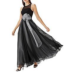 Coast - Black 'Tiffany' corsage detail maxi dress