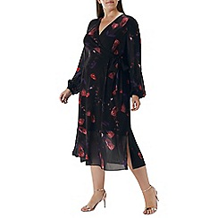 Coast - Floral printed 'Nyla' wrap dress - Curve