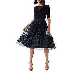 Coast - Navy 'Erica' 3D spot midi dress