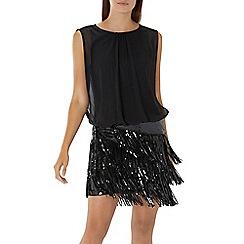 Coast - Black 'Arianna' sequin drop waist dress