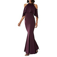 Coast - Purple merlot 'Sierra' high neck maxi dress