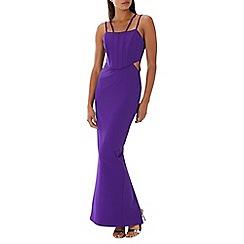 Coast - Purple 'Paris' structured maxi dress
