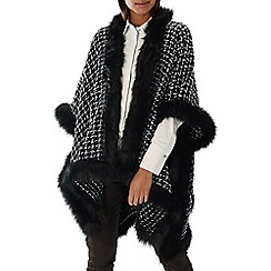 Coast - Monochrome 'Jamie' boucle faux fur cape