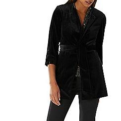 Coast - Black 'Viv' velvet tie wrap jacket