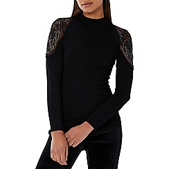 Coast - Black 'Scarlett' embellished knit top