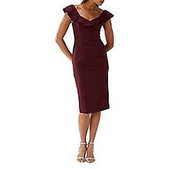 Coast - Plum 'Lora' ruffle shift dress