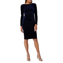 Coast - Navy 'Velma' hotfix velvet dress