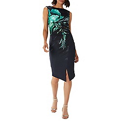 Coast - Floral 'Dawn' scuba asymmetric shift dress