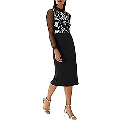 Coast - Monochrome 'Sian' artwork midi dress