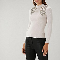 Coast - NEUTRAL TILDA EMBELLISHED KNIT TOP