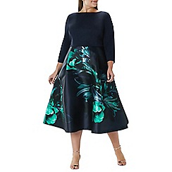 Coast - Floral 'Dawn' full midi dress - Curve