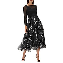 Coast - Black 'Amore' foil printed dress