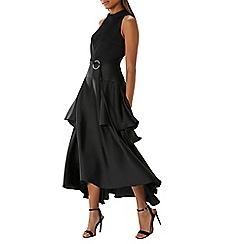 Coast - Black 'Walker' drape detail maxi dress