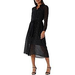 Coast - Black 'Karen' hotfix embellished shirt dress