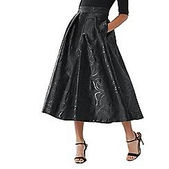 2648aa47334b6 Coast - Black  Roberta  jacquard full skirt