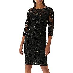 Coast - Black 'Lou Lou' floral sequin dress