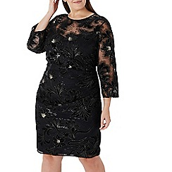 Coast - Black 'Lou Lou' floral sequin dress - Curve
