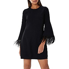 Coast - Black 'Amiah' feather sleeve dress