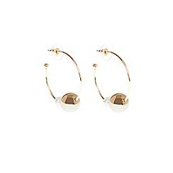 Coast - Gold 'Sienna' pearl hoop earrings