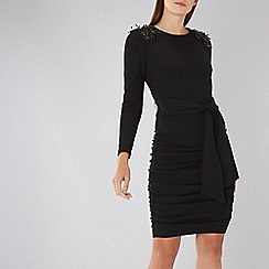 Coast - Black Shea Embellished Dress