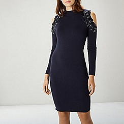 Coast - Navy Fallon Knit Dress