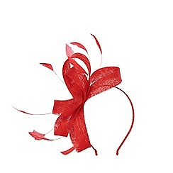 Coast - RED ADALINE SMALL LOOP FASCINATOR